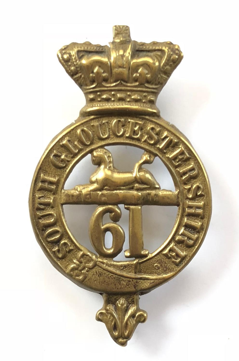 61st (South Gloucestershire) Regiment of Foot OR's glengarry badge c