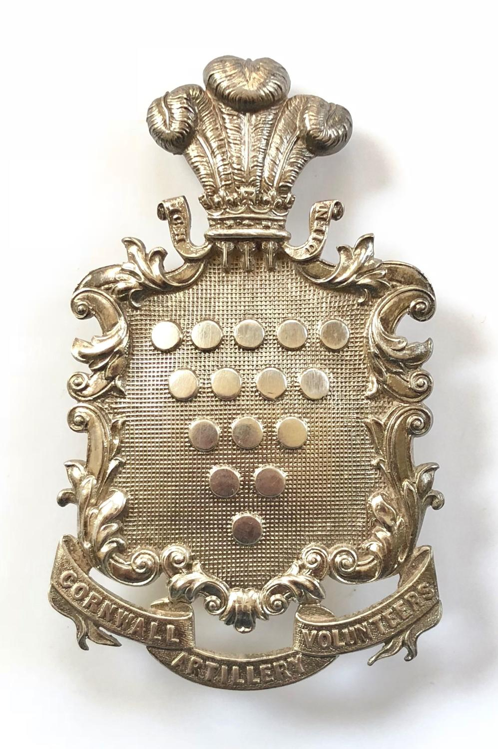 Cornwall Artillery Volunteers Officer's pouch belt plate circa 1861-