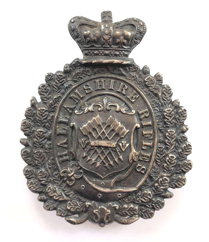 Hallamshire Rifles Victorian Officer's pouch belt plate circa 1860