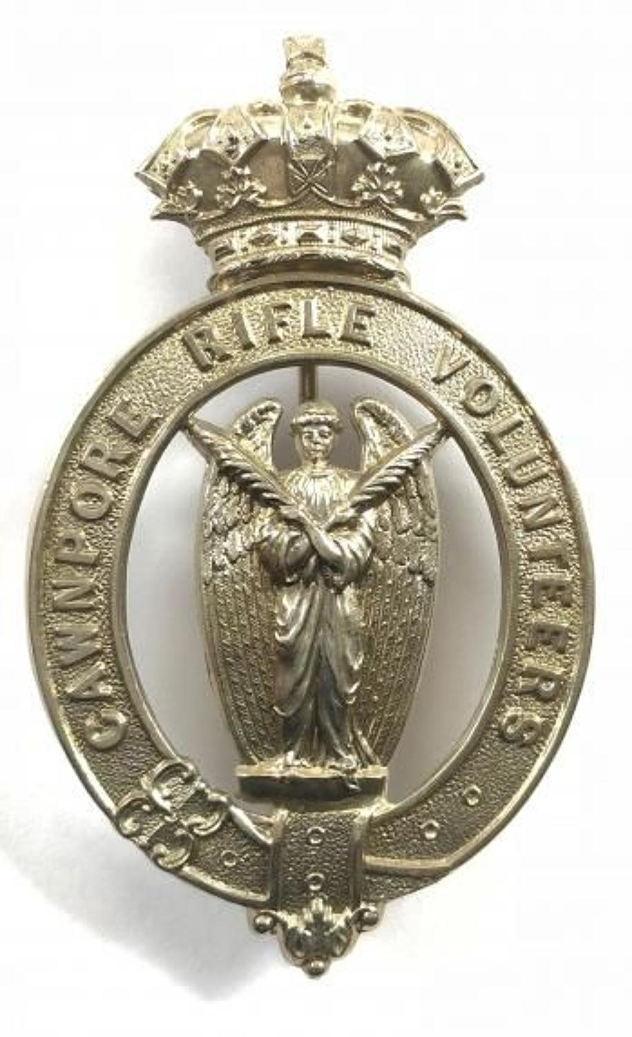 Indian Army. Cawnpore Rifle Volunteers pre 1903 pagri badge.