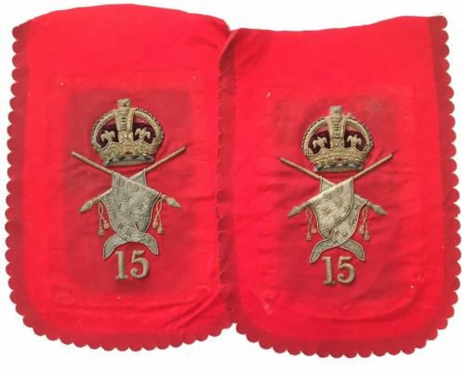 15th King's Hussars shabraque panels,