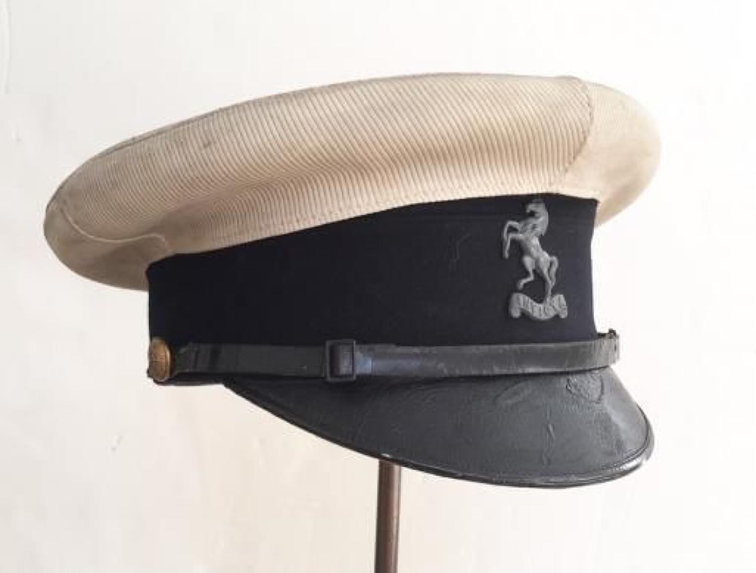 Kent Cyclist Battalion Officer's peaked cap circa 1910-20.