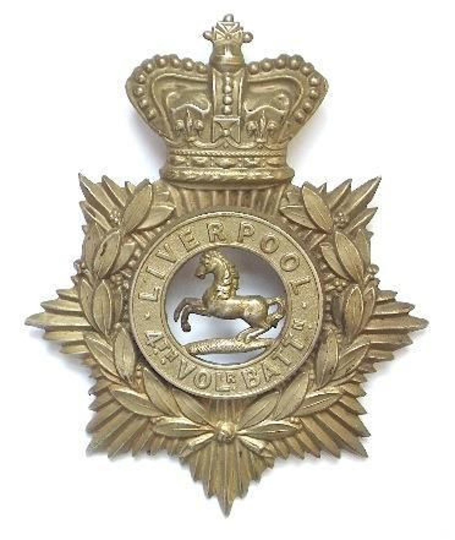 4th VB King's Liverpool Regiment Victorian NCO's helmet plate