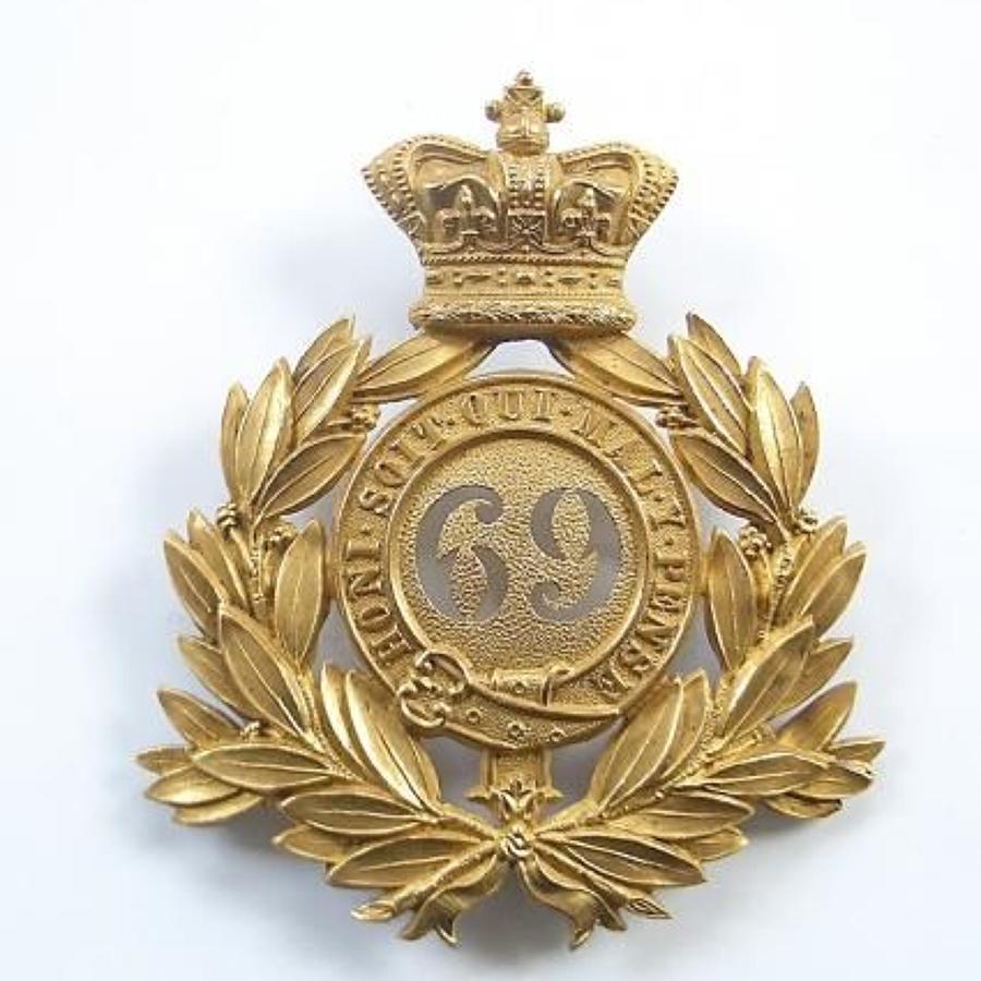 69th Foot (South Lincolnshire) Victorian senior NCO's shako plate