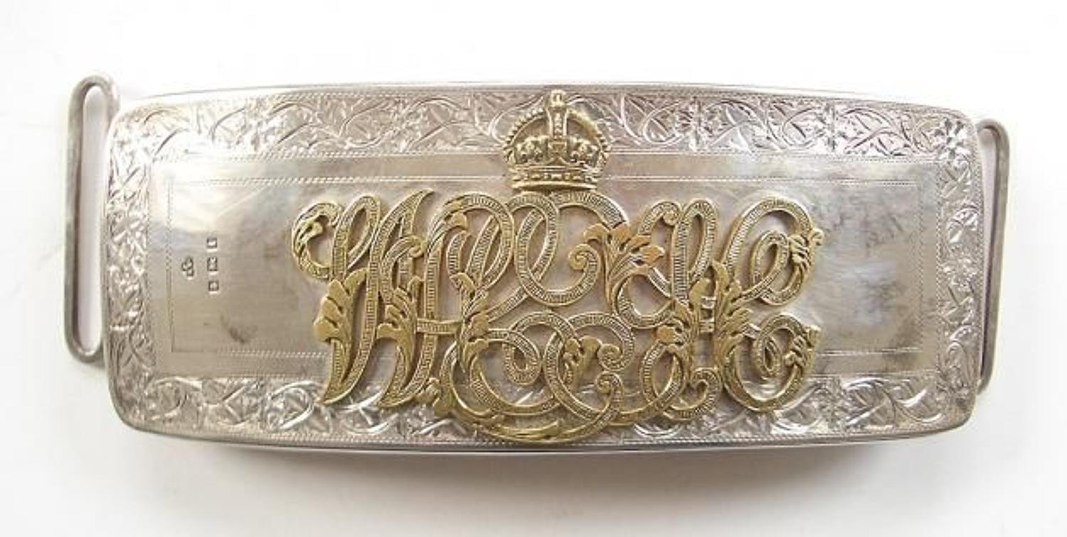 Westmoreland and Cumberland Yeomanry 1910 silver Officer's pouch