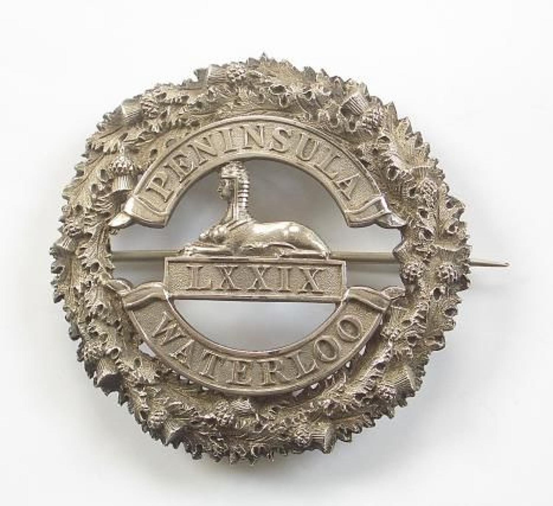 79th (QO Cameron Highlanders) Victorian Officer's plaid brooch.