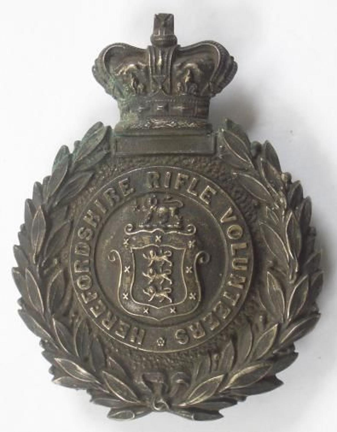 Herefordshire Rifle Volunteers Victorian Sergeant's pouch belt plate