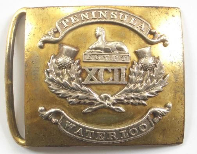 92nd (Gordon Highlanders) Victorian Officer's waist belt clasp