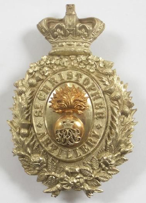 West Indies. St. Christopher Artillery Victorian Officer's pouch belt
