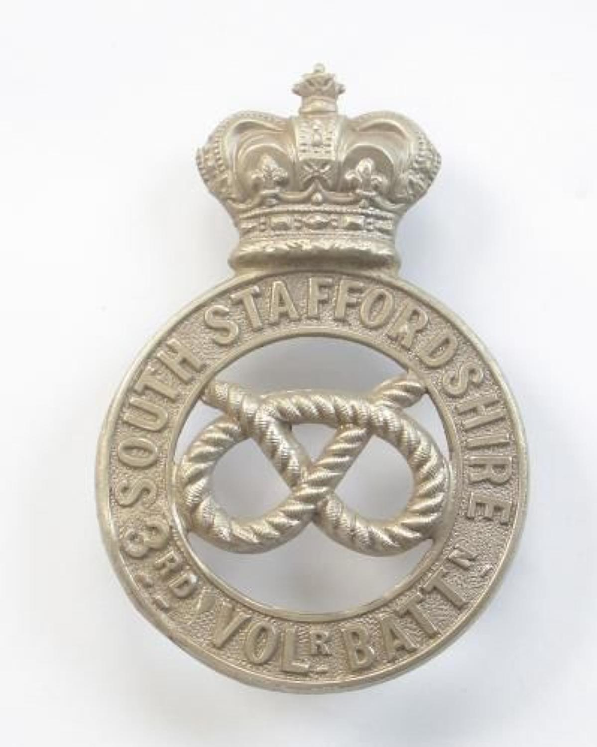 3rd VB South Staffordshire Regiment Victorian OR's glengarry badge c