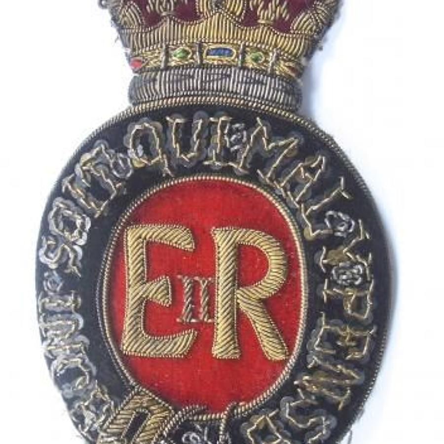 Royal Household Elizabeth II EIIR Postillion's arm badge.