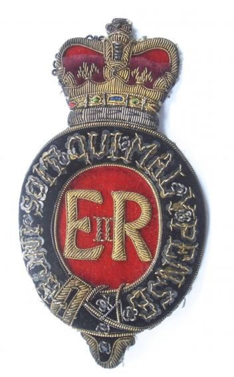 Royal Household Elizabeth II EIIR Postillion's arm badge.
