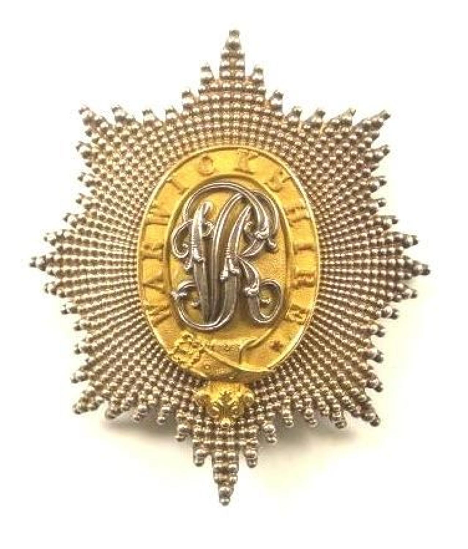 Warwickshire Yeomanry Victorian attributed Officer's shako plate