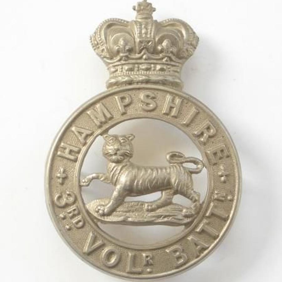 3rd VB Hampshire Regiment Victorian OR's glengarry badge circa 1885-