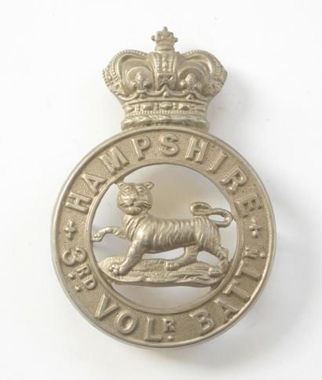 3rd VB Hampshire Regiment Victorian OR's glengarry badge circa 1885-