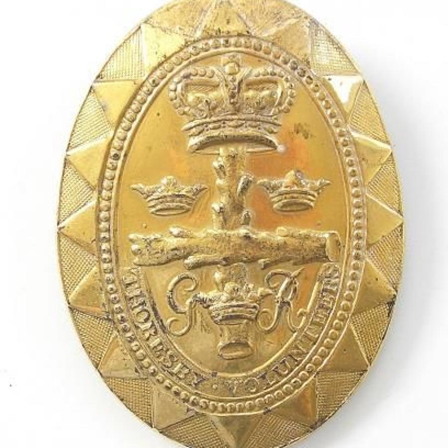 Thoresby Volunteers, Nottinghsamshire Officer's shoulder belt plate