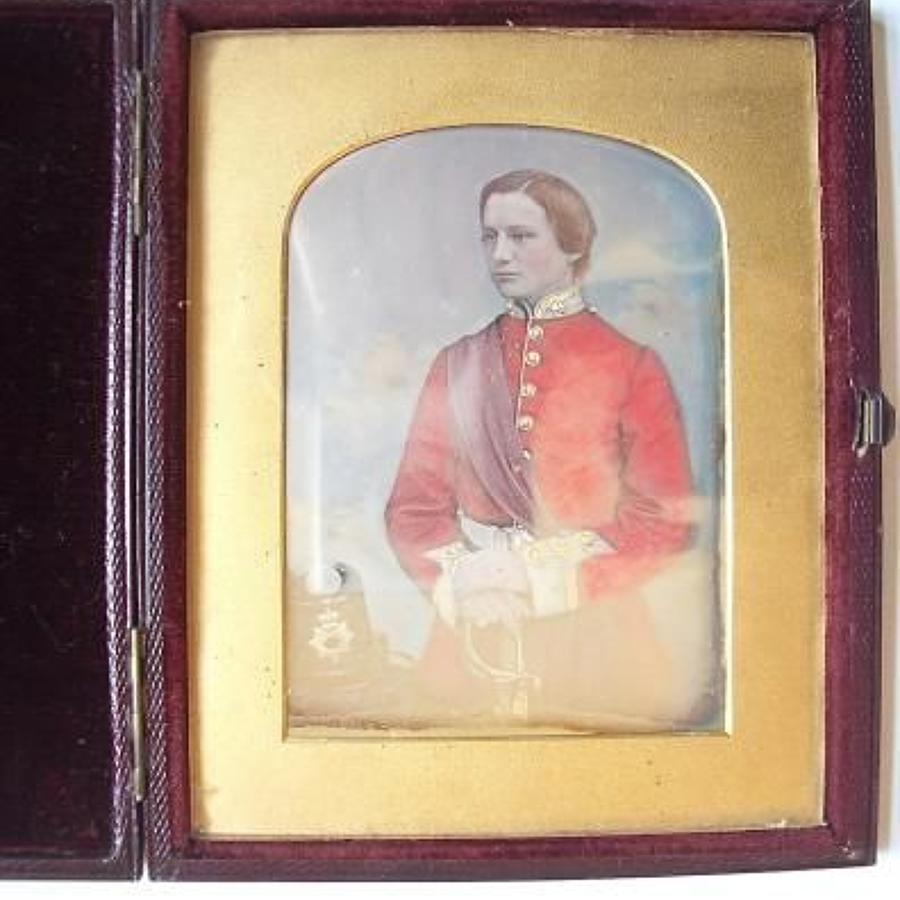 Victorian 19th century Ambrotype photograph of an Infantry Officer.