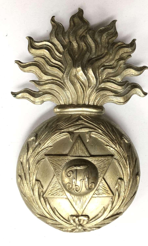 Trinidad Artillery Volunteers Victorian post 1895 OR's helmet plate