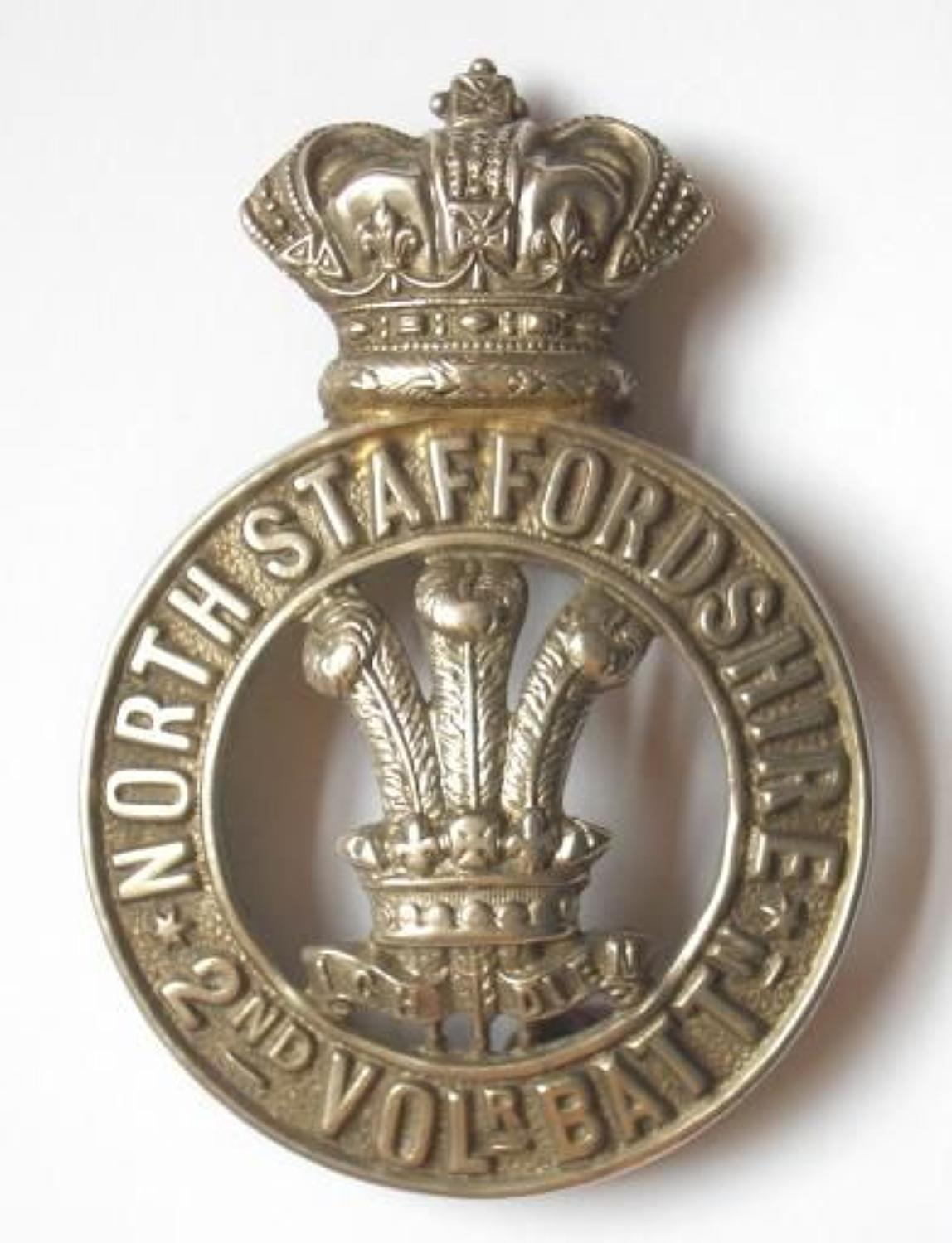 2nd VB North Staffordshire Regiment Victorian OR's glengarry badge
