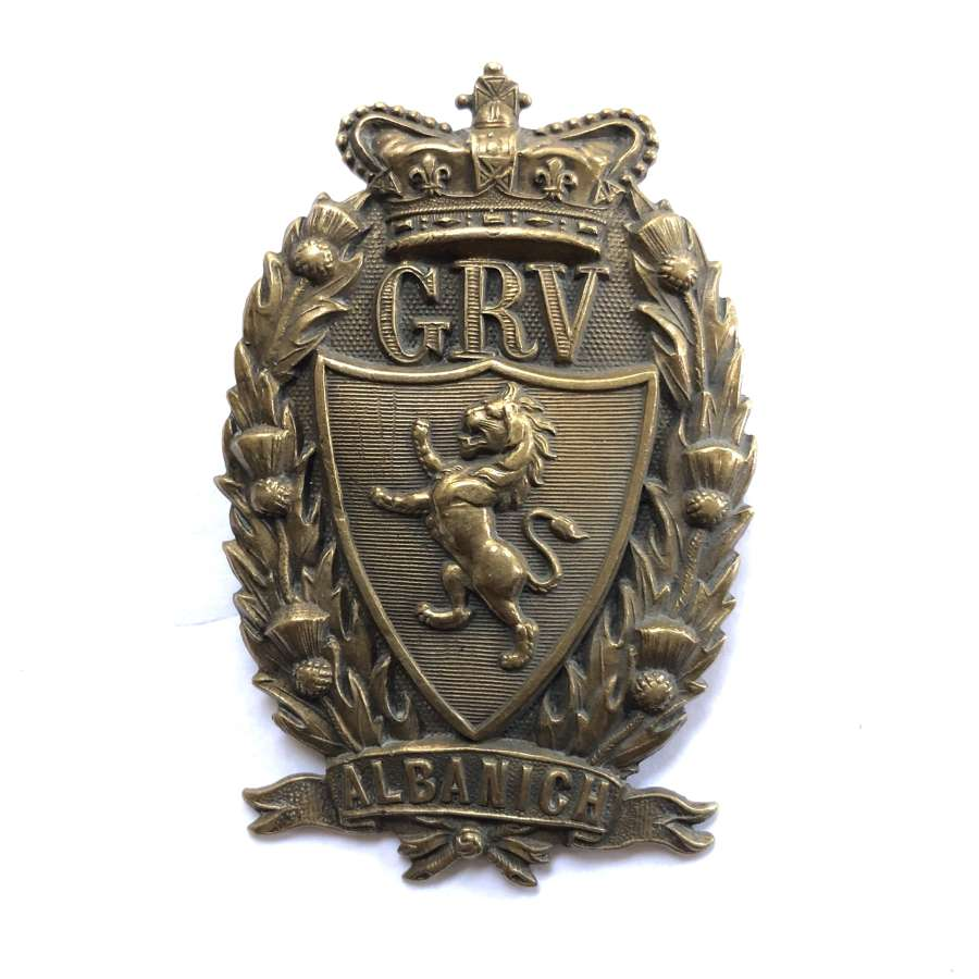 Galloway Rifle Volunteers Victorian glengarry badge C1883-1901.