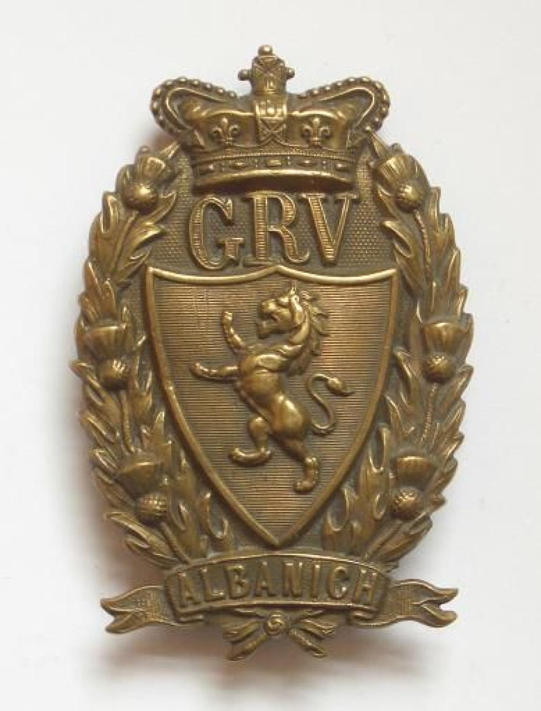 Galloway Rifle Volunteers Victorian glengarry badge C1883-1901.