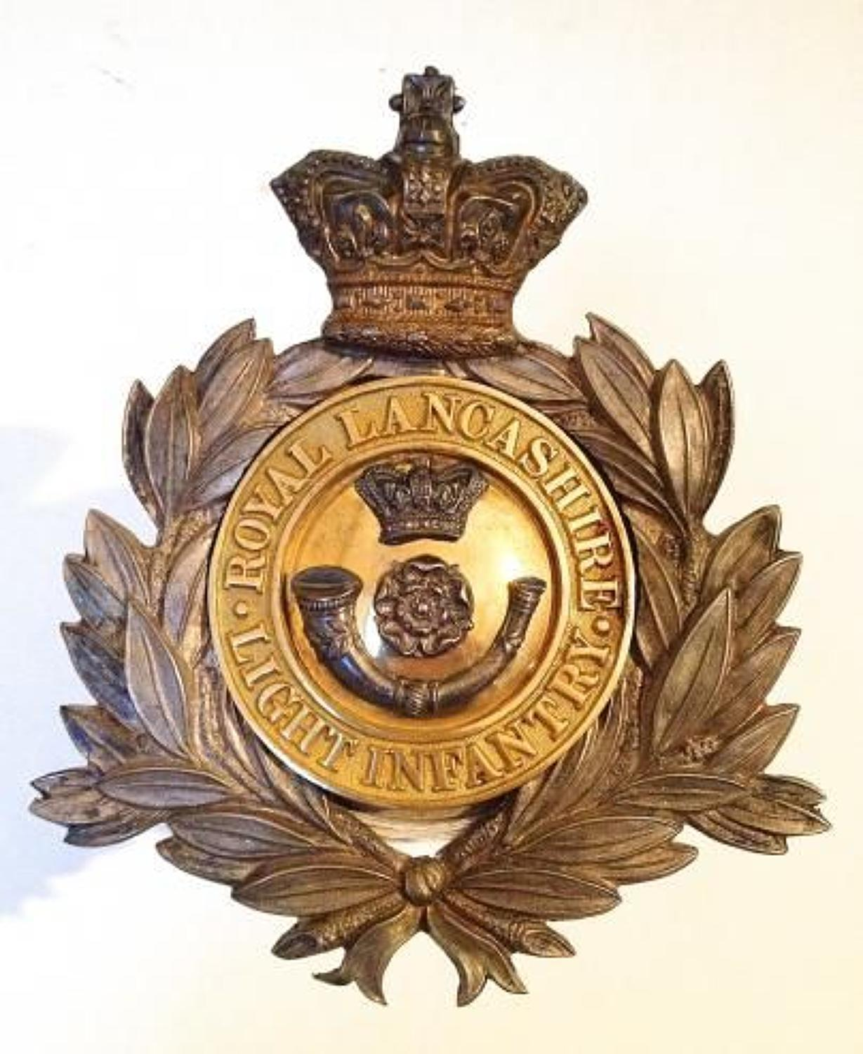 4th Royal Lancashire Light Infantry Officer's shako plate circa 1869