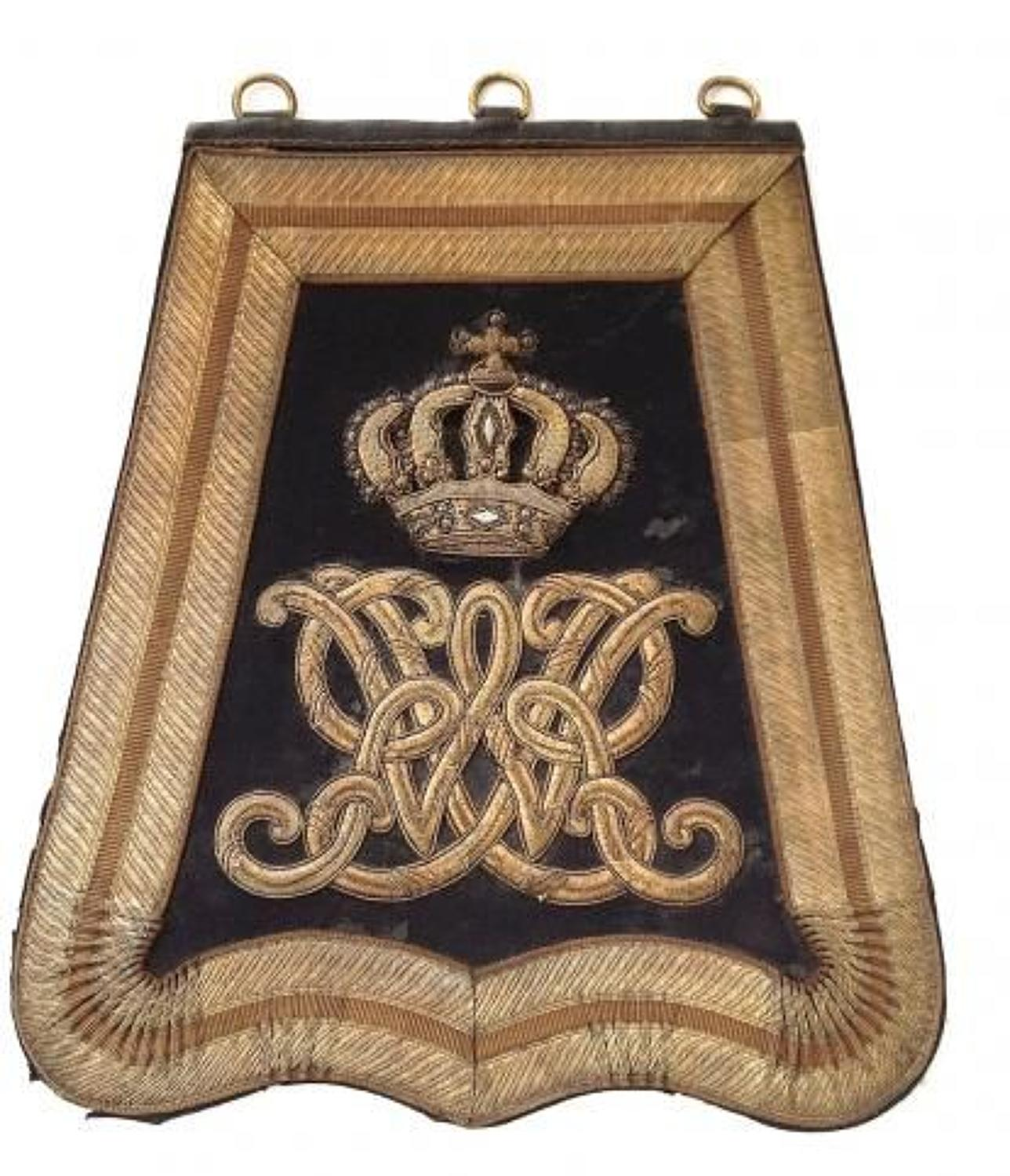 William IV  Yeomanry Officer's Full Dress Sabretache circa 1830-37.