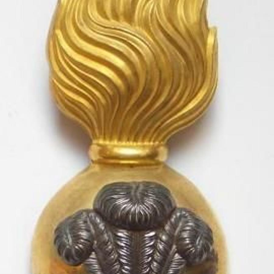 Royal Welsh Fusiliers Officer's fur cap grenade circa 1881-1914.