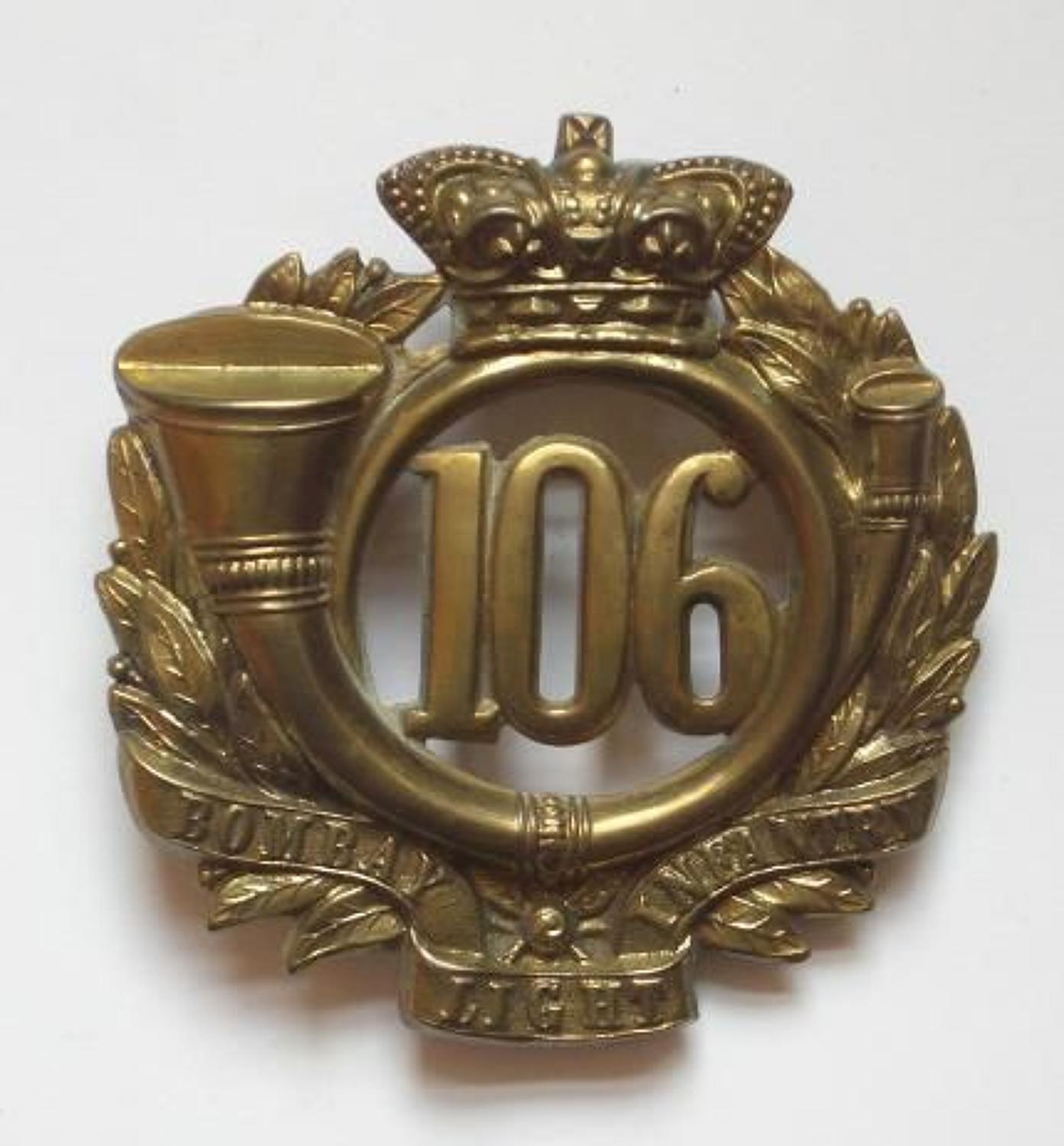 106th (Bombay Light Infantry) Regiment Victorian glengarry badge