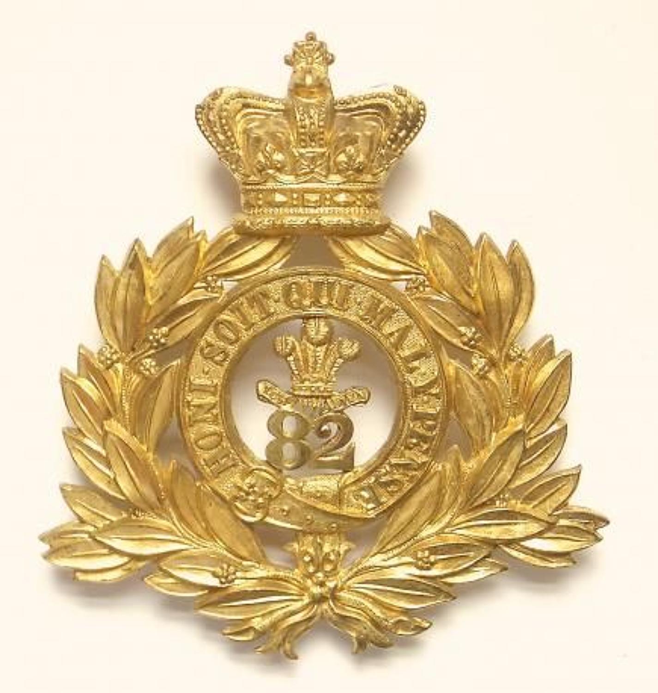 82nd (Prince of Wales's Vols) Foot senior NCO's shako plate c1869-