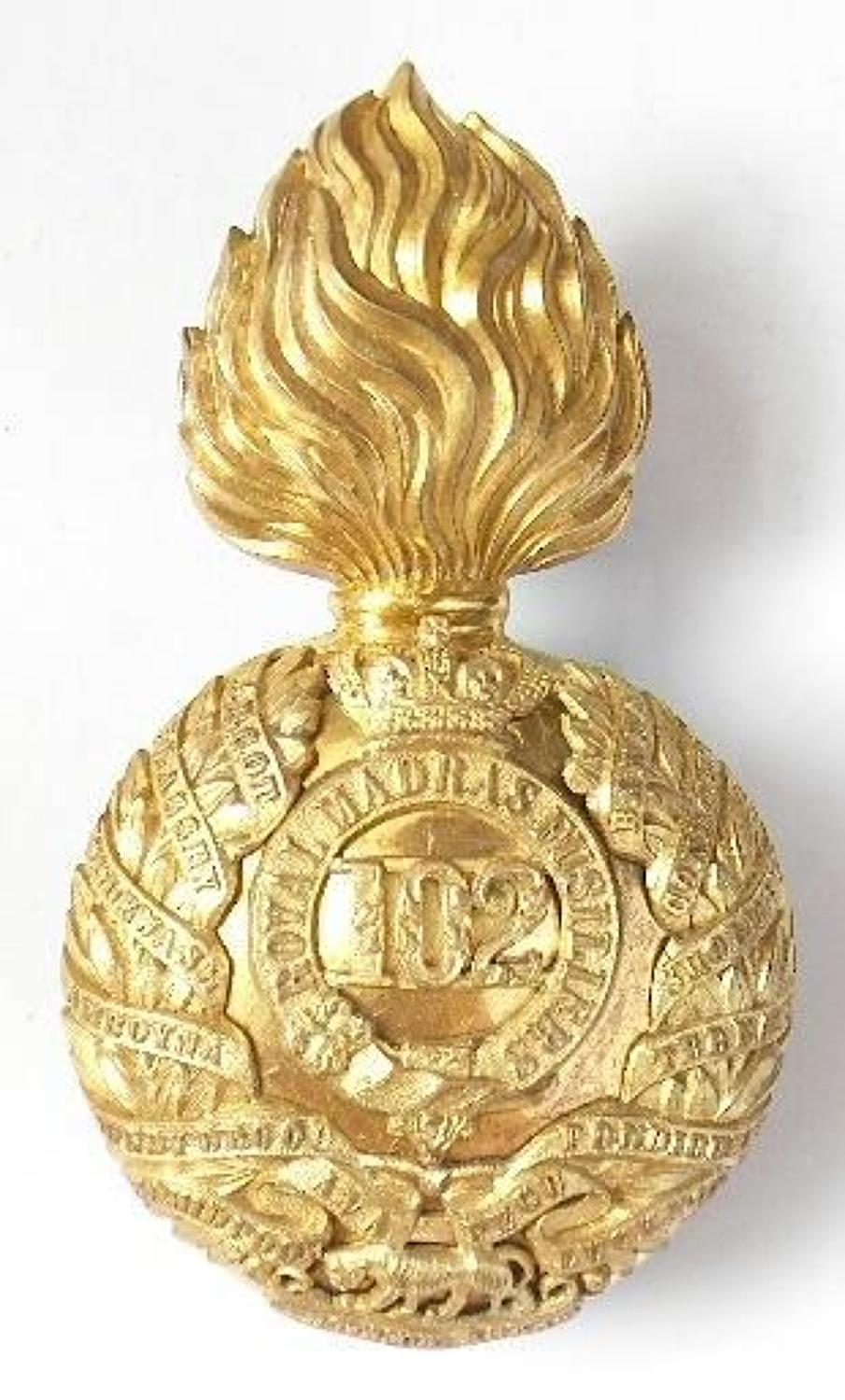Indian Army / Irish. 102nd Royal Madras Fusiliers Victorian Officer'