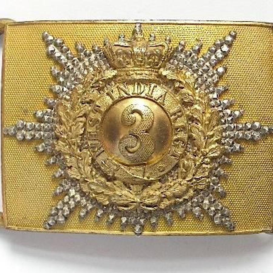 3rd West India Regiment Victorian Field Officer's Waist Belt Plate