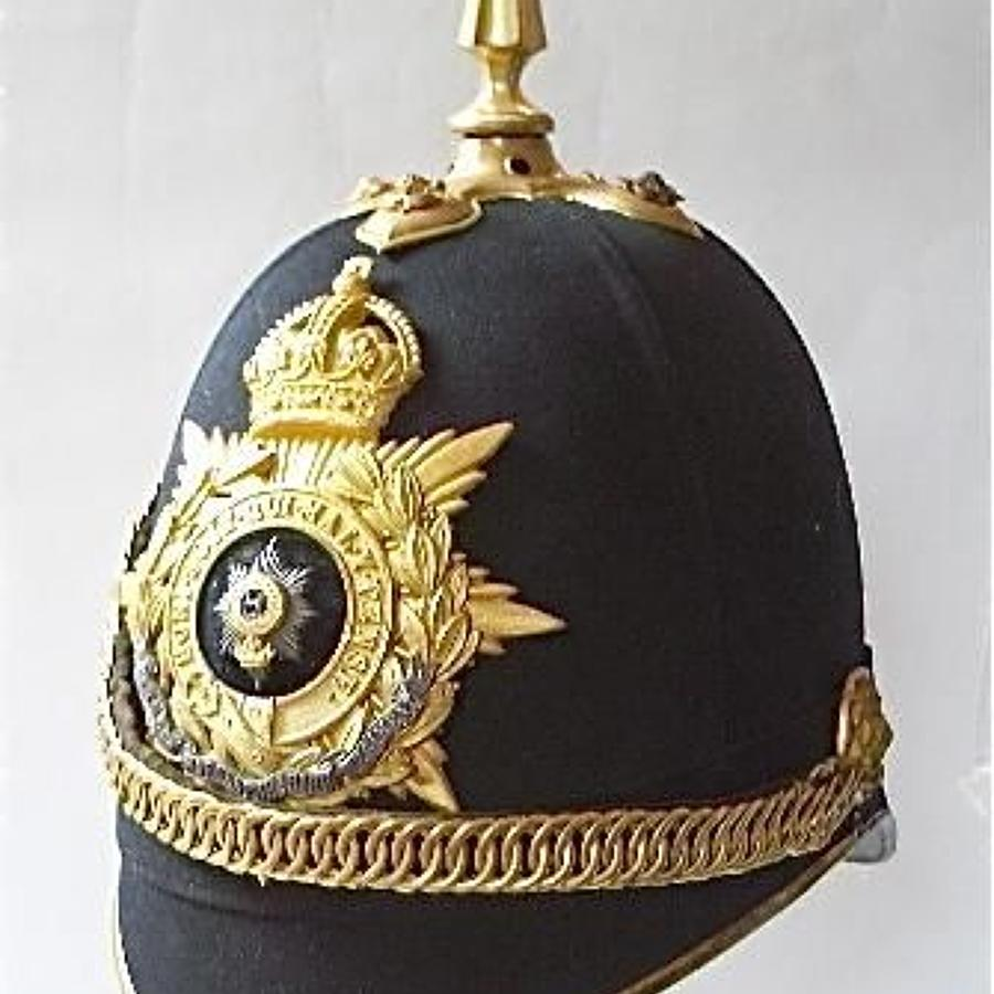 1st Bn Worcestershire Regiment Officer's Home Service Pattern helmet