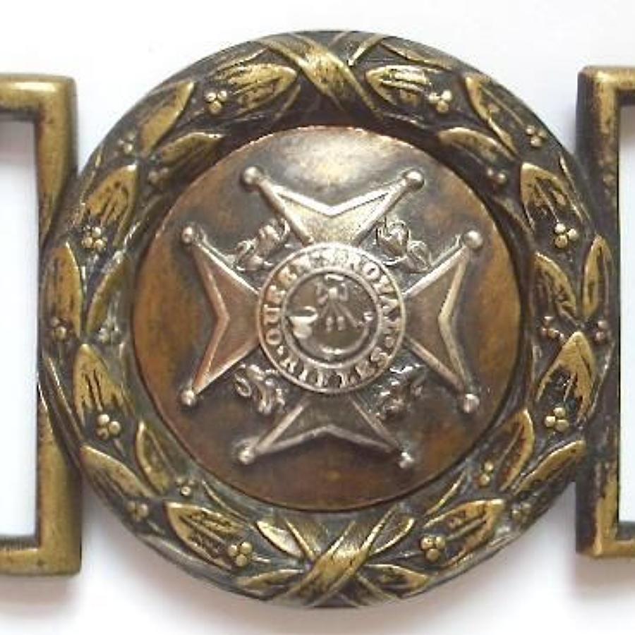 Irish. Antrim Militia Victorian Officer's waist belt clasp