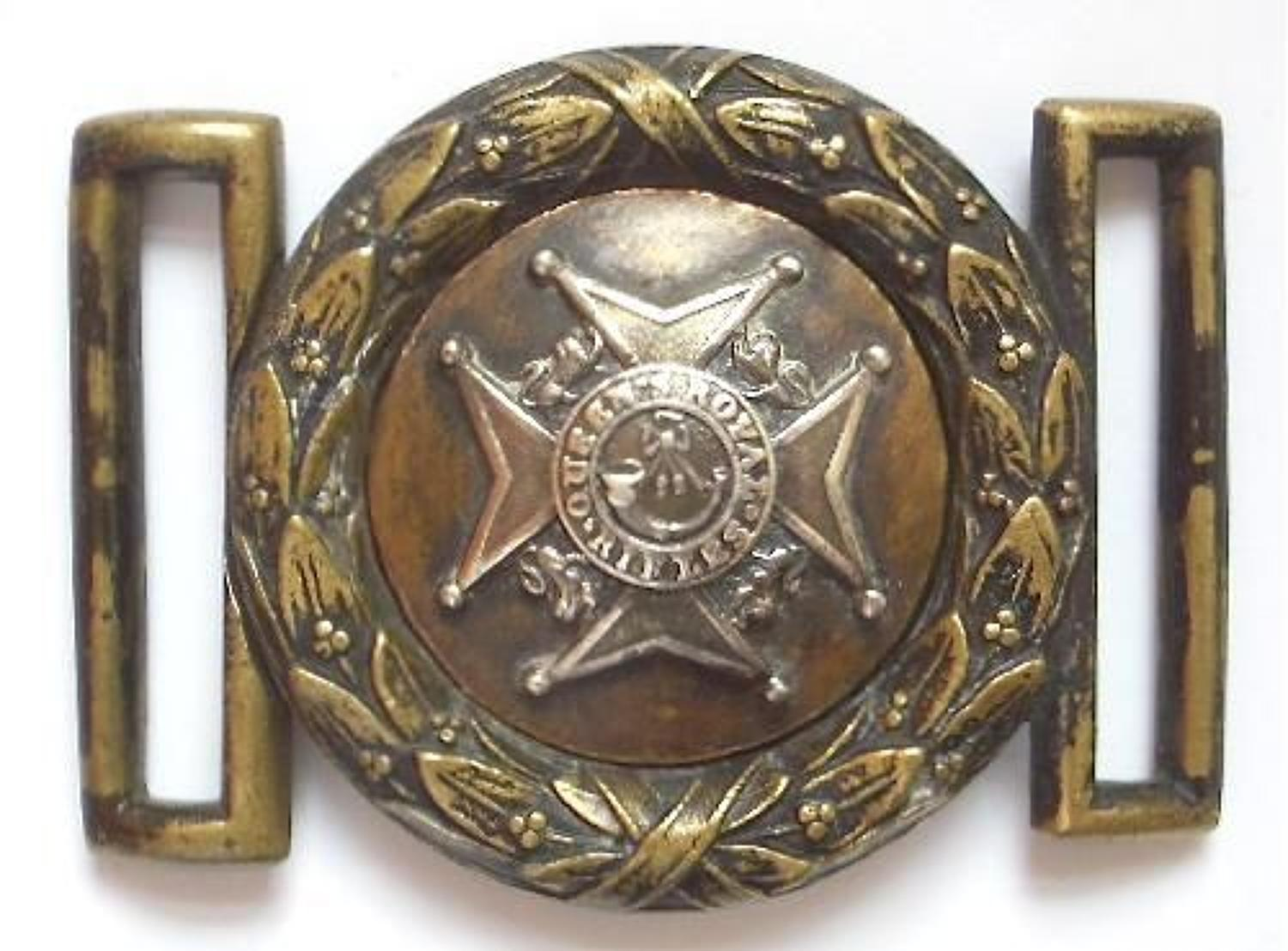 Irish. Antrim Militia Victorian Officer's waist belt clasp