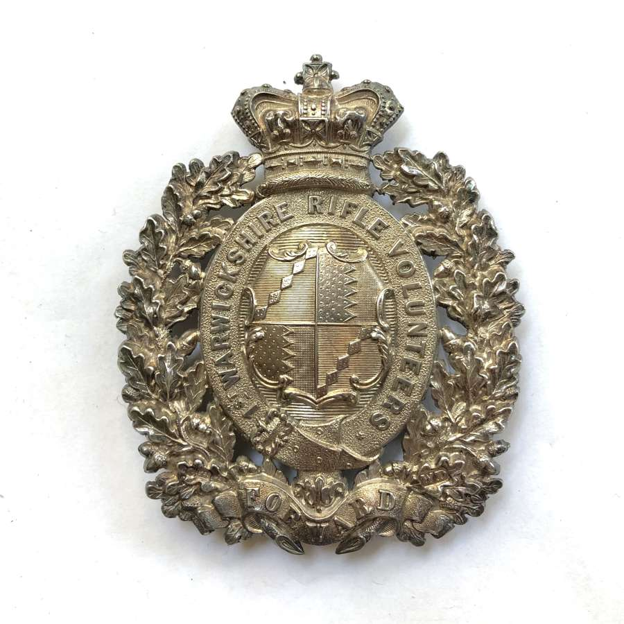 1st Warwickshire Rifle Volunteers HM 1870 silver pouch belt plate