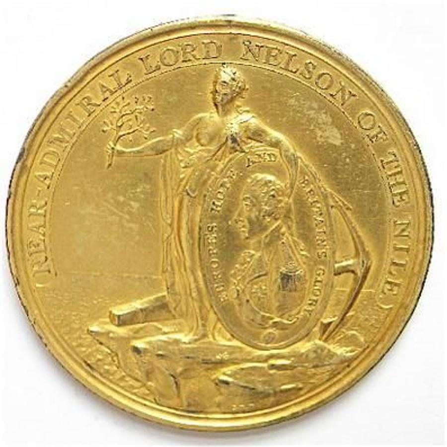 1798 Davison's Nile Medal in gilt bronze.