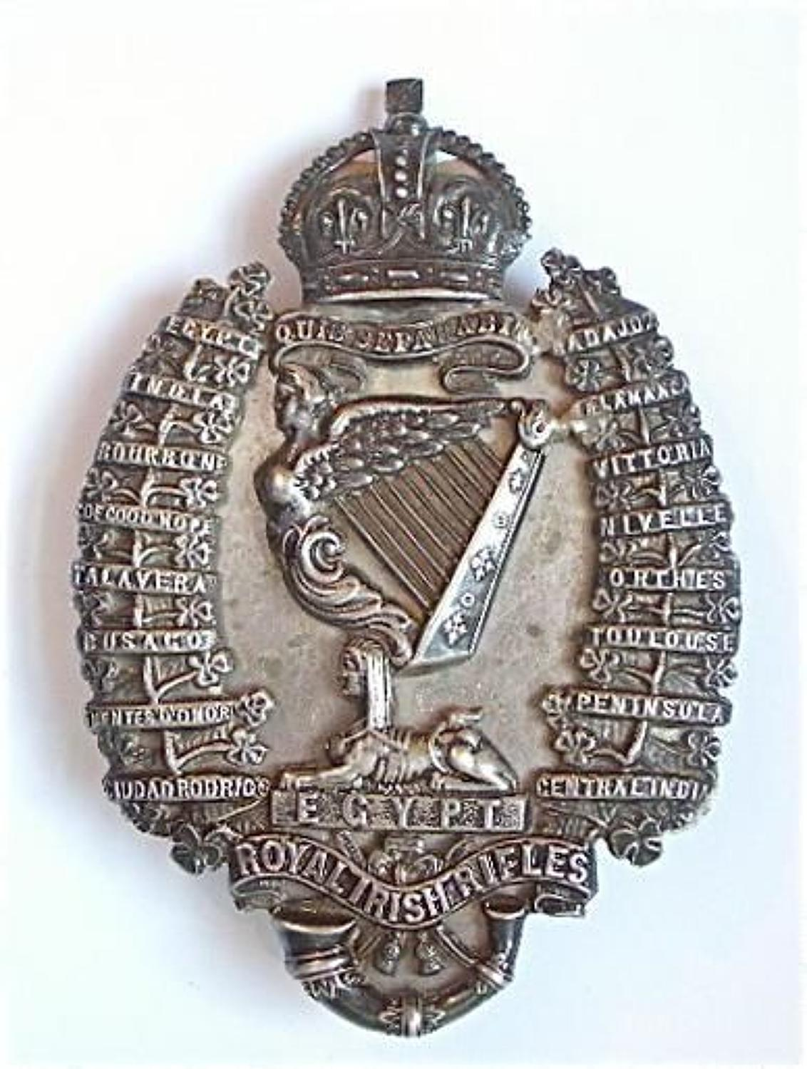 Royal Irish Rifles attributed Officer's 1898 hallmarked silver pouch
