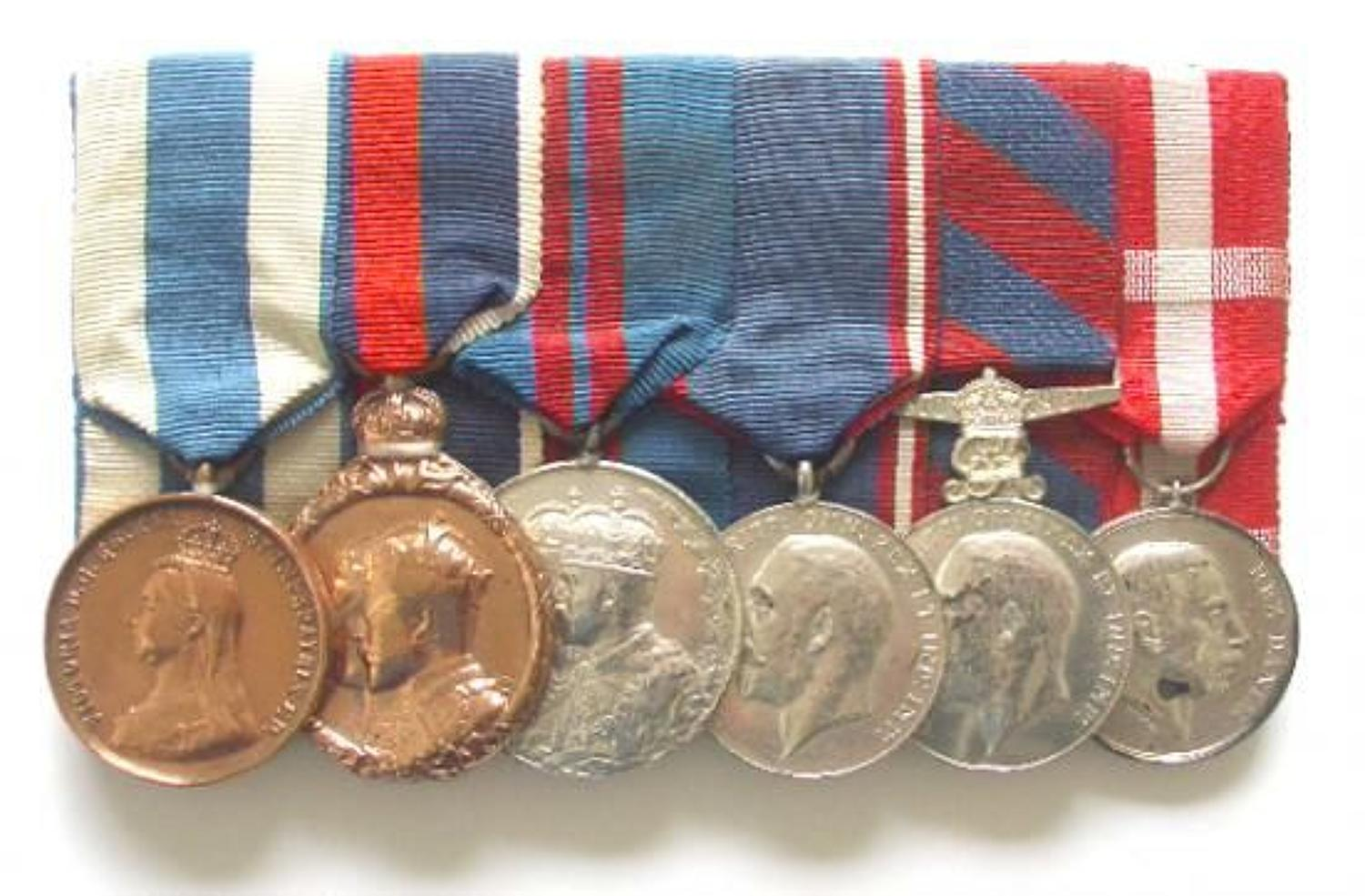 Royal Household, Royal Mews Driver's Group of Six medals spanning Vi