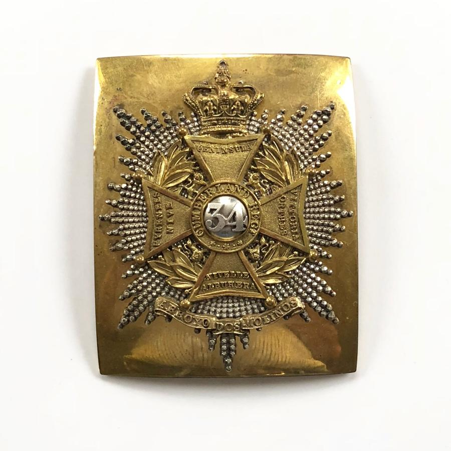 34th (Cumberland) Foot Victorian Officer's shoulder belt plate