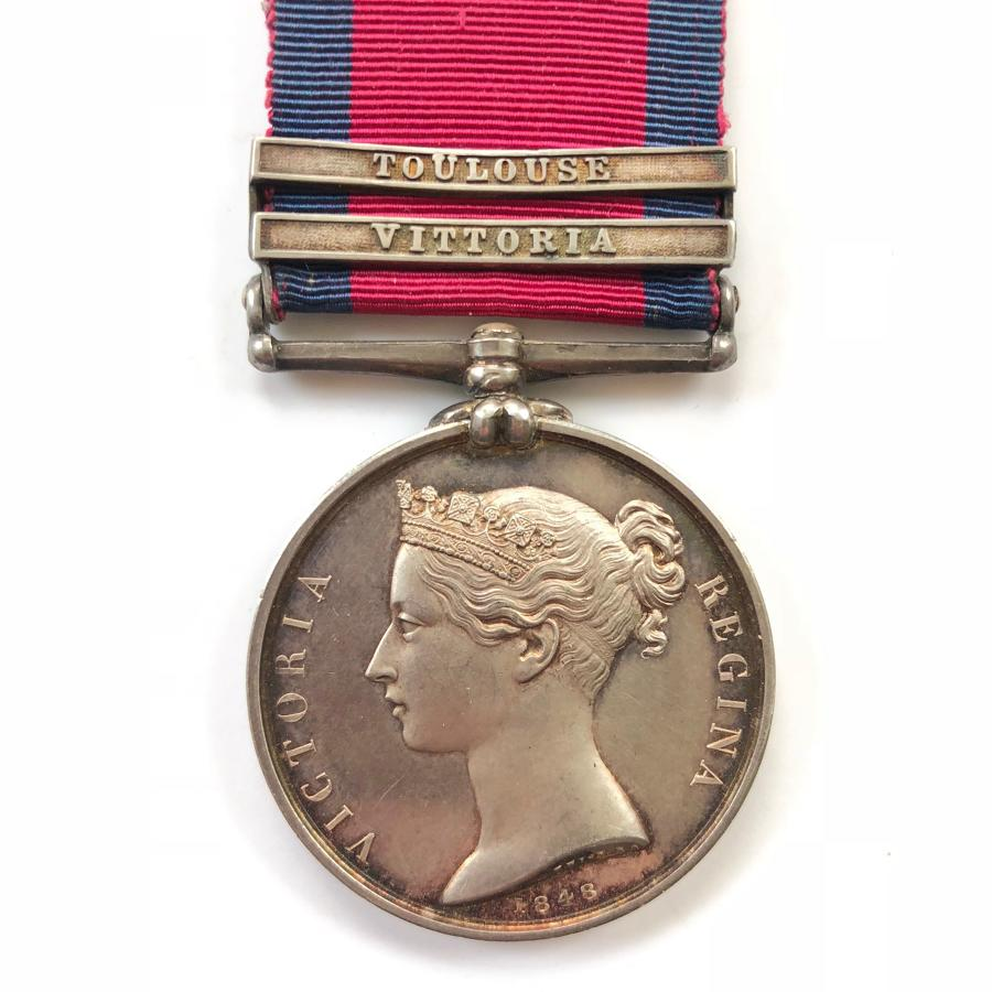 5th Dragoon Guards Officer's Military General Service Medal Two Clasps