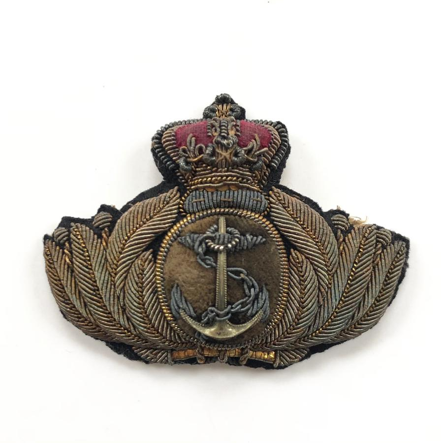 Royal Navy Victorian Officer's cap badge circa 1879-91