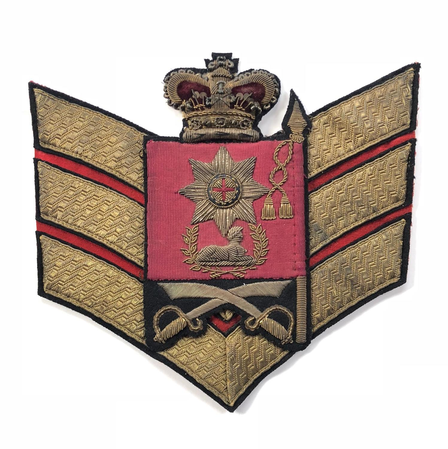 Coldstream Guards Victorian Colour Sergeant's rank badge and chevron