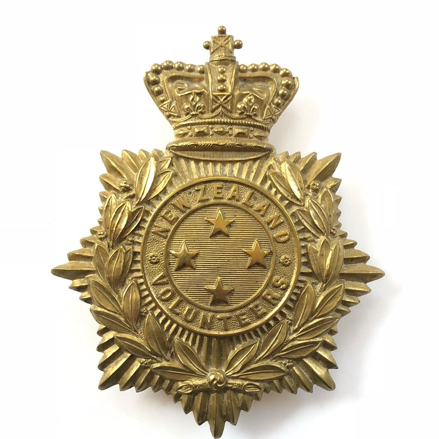 New Zealand Volunteers Victorian helmet plate.