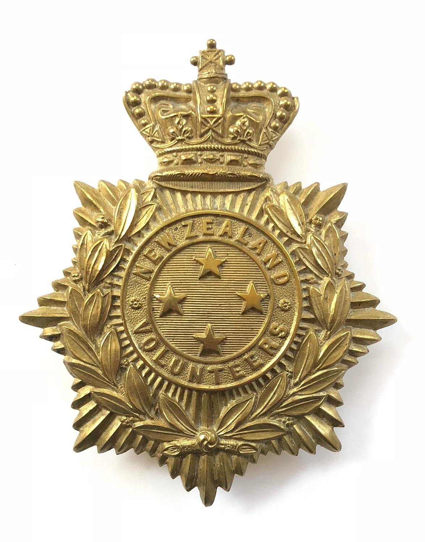 New Zealand Volunteers Victorian helmet plate.