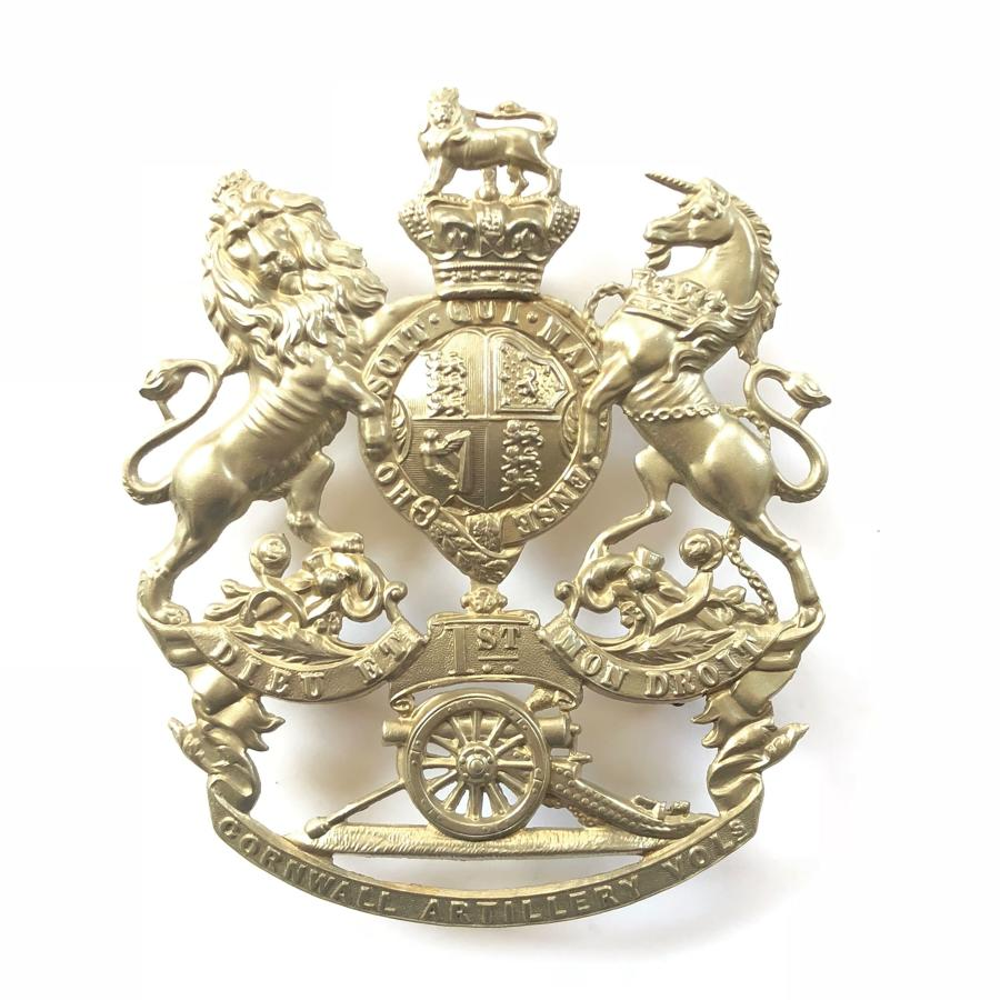 1st Cornwall Artillery Volunteers Victorian OR's helmet plate
