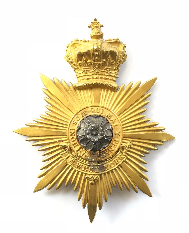 """1st West York Militia Victorian Officer's """"Albert"""" pattern shako"""