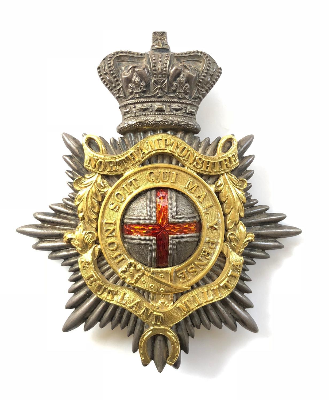 Northamptonshire & Rutland Militia Victorian Officer's shako plate.