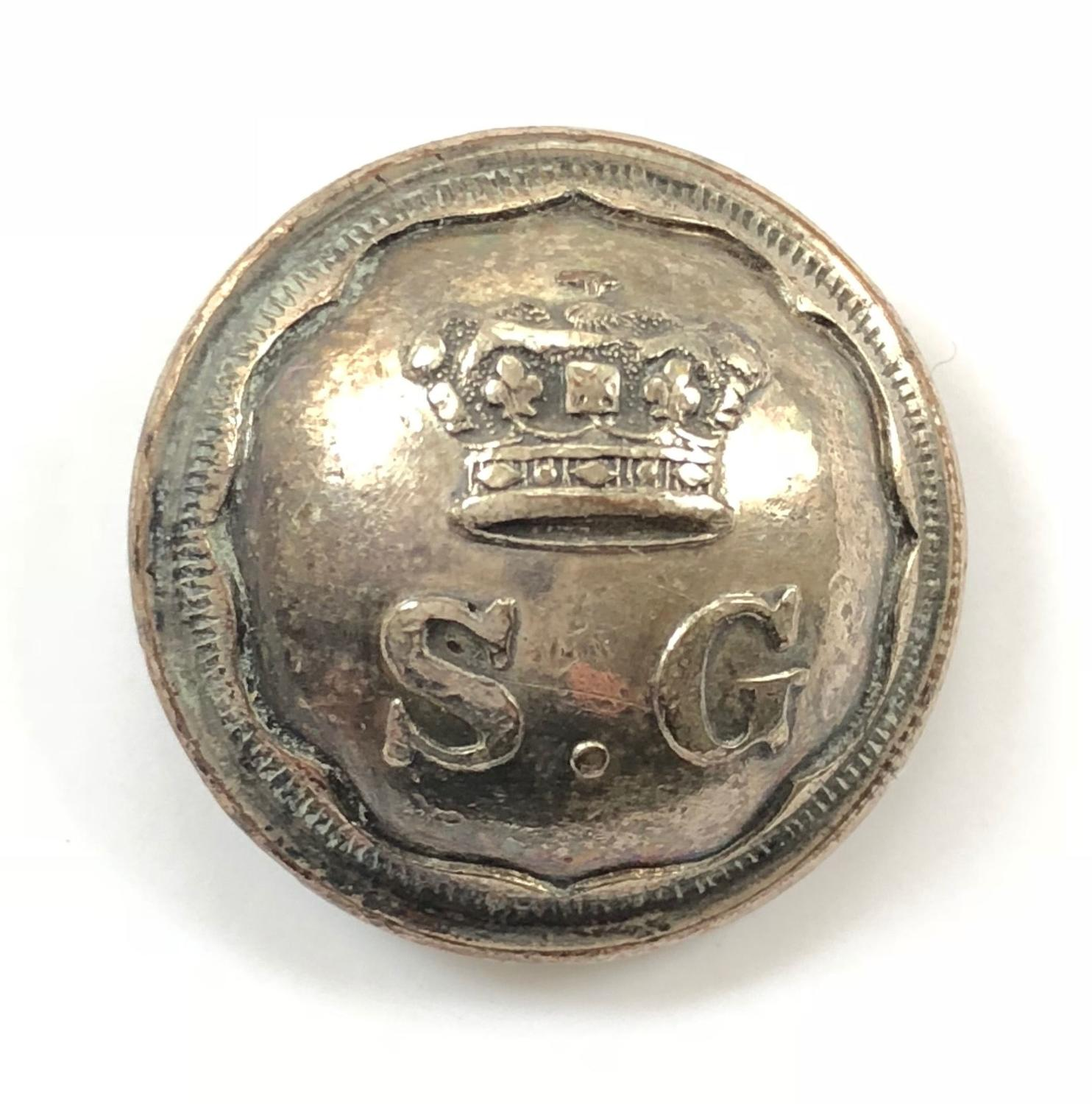 Royal South Gloucestershire Militia Officer's coatee button