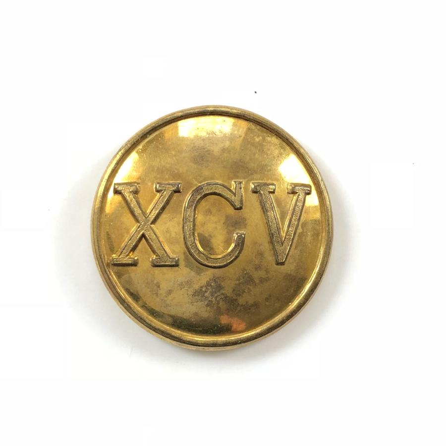 95th (Derbyshire) Regiment Mess Waiter's gilt button